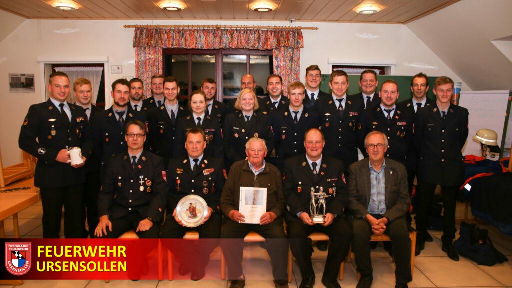 Kameradschaftsabend 2019 - Feuerwehr Ursensollen ehrt verdiente Mitglieder