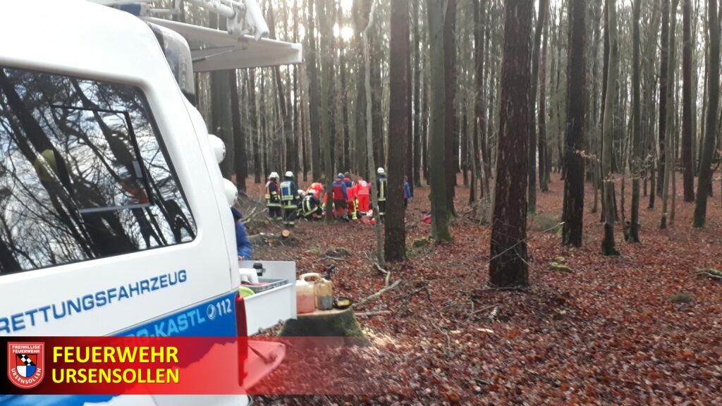 #THL3#Rettung#Waldunfall mit eingeklemmter Person