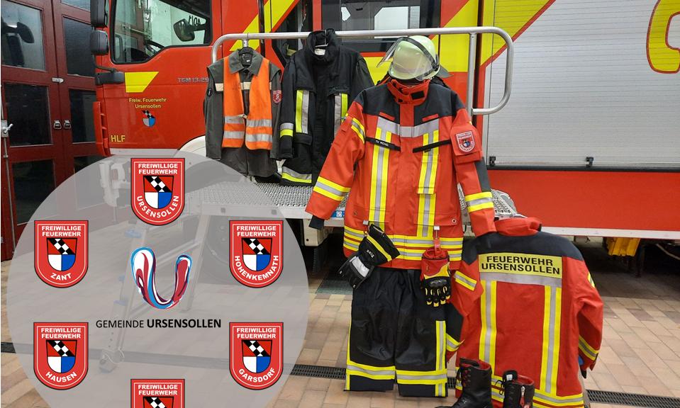 Neue Schutzkleidung für die Feuerwehren der Gemeinde Ursensollen